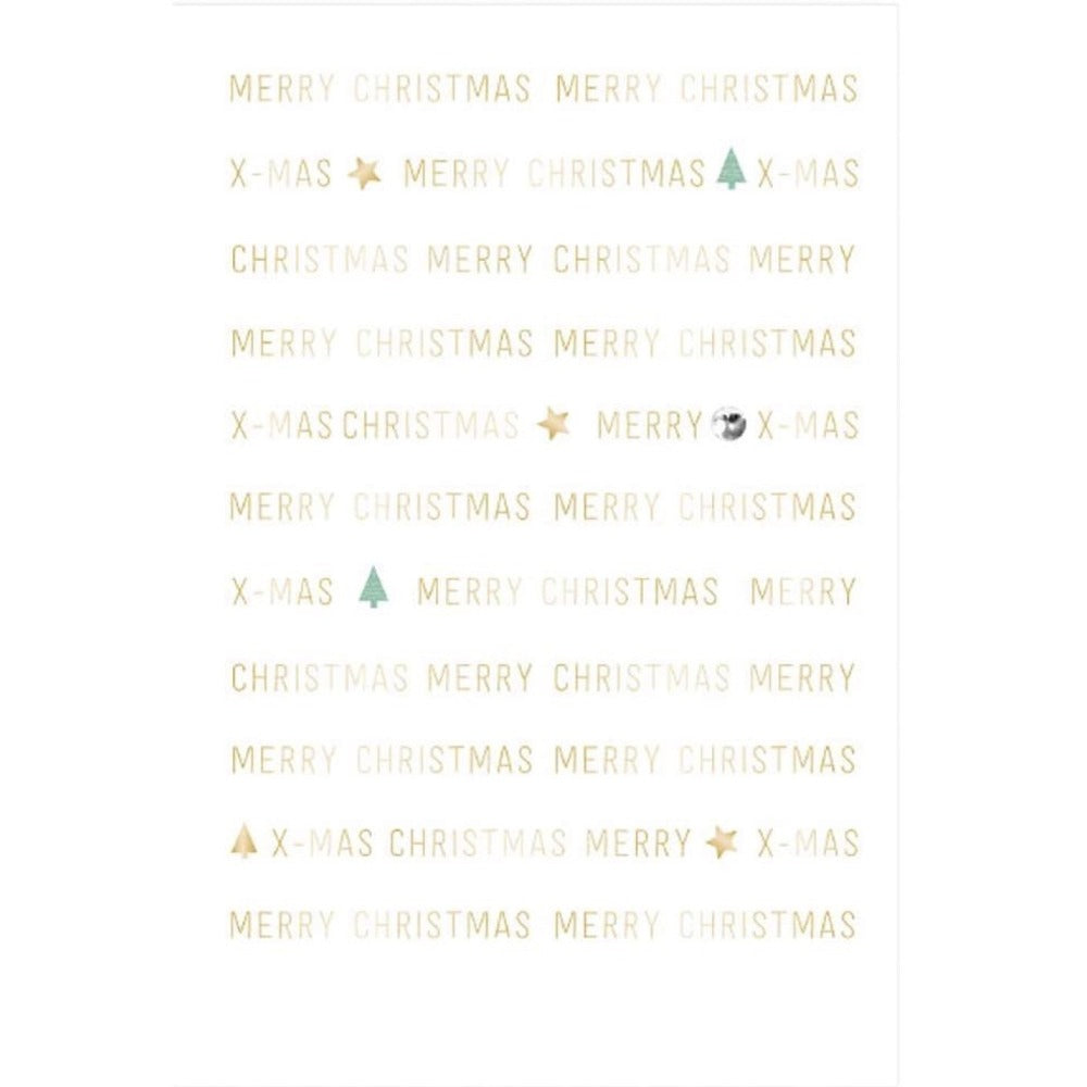 "Artebene ""Merry Christmas"" Repeating Words  Greeting Card 