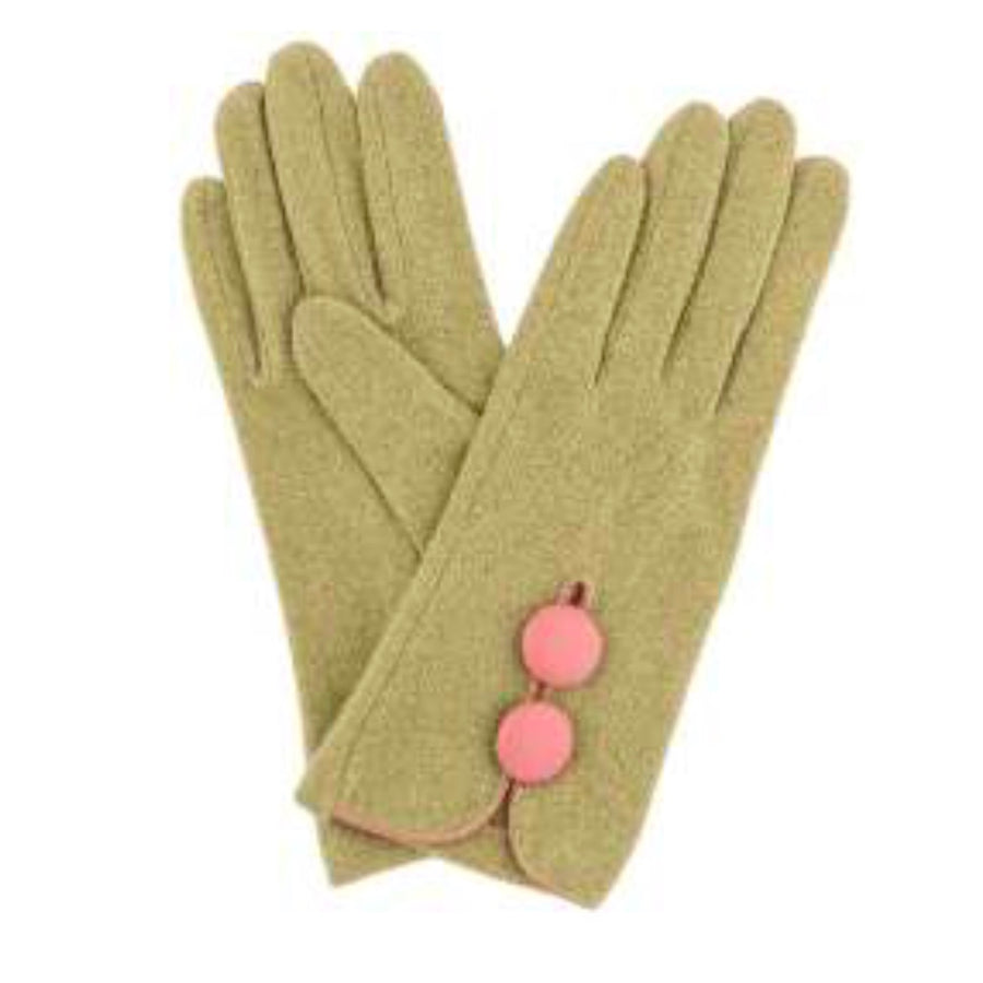 "Powder ""Mabel"" Wool Gloves - Moss"