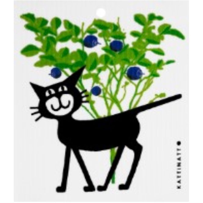 Kattinatt Cat in Blueberry Forest Swedish Cloth