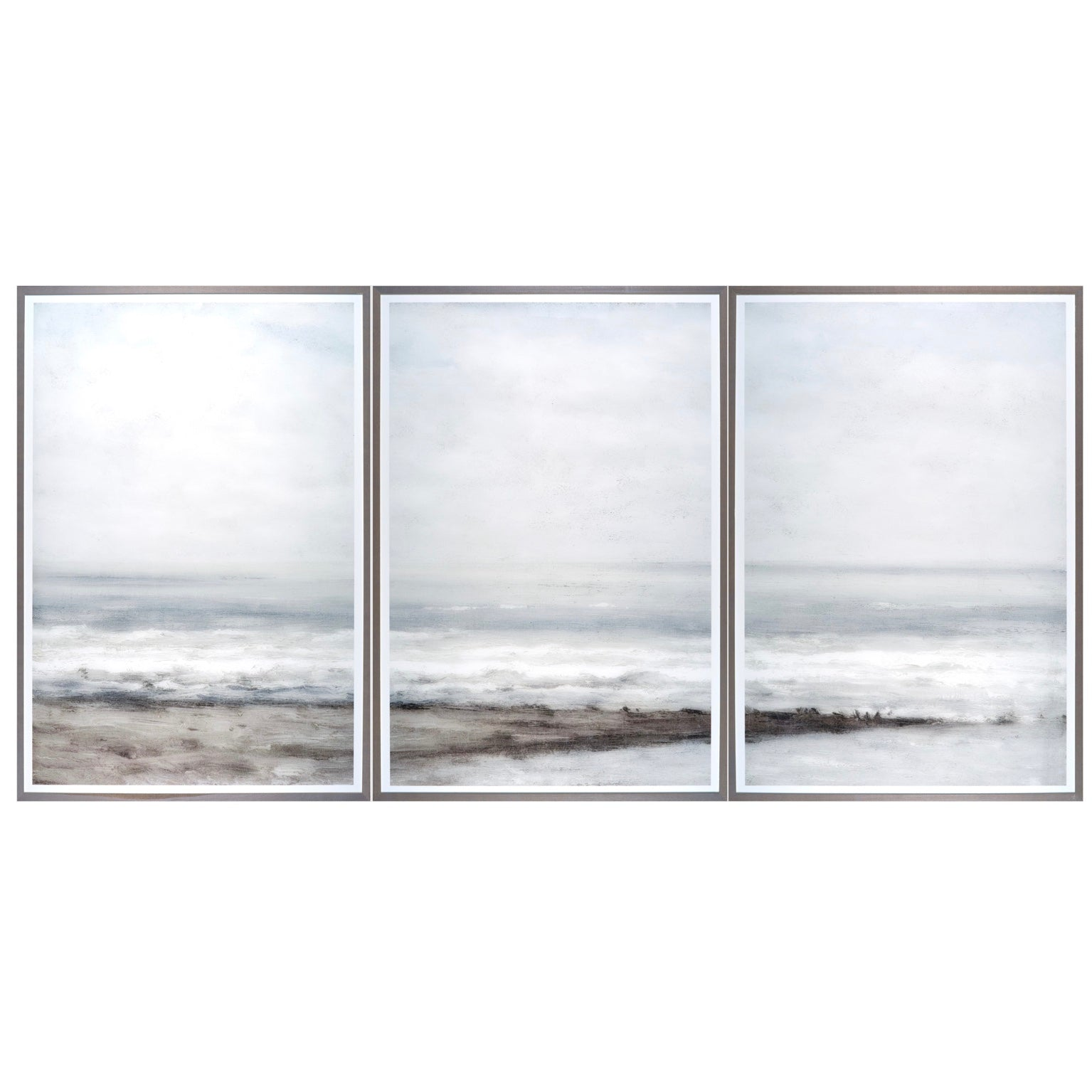Seascape Triptych Framed Print