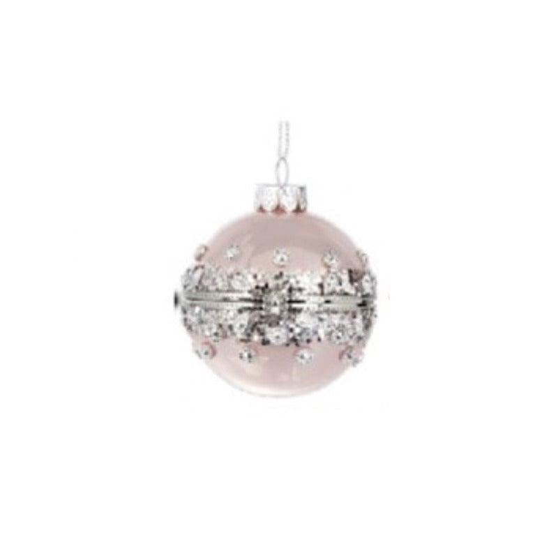 Pink Shimmer Hinged Box Ornament