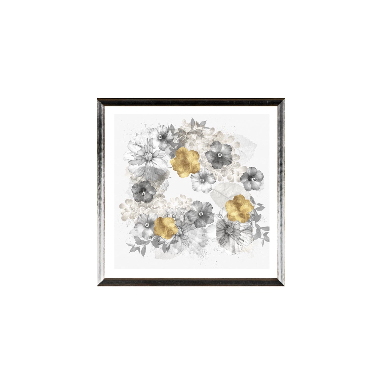 """Floral Wreath"" Framed Print - Small"