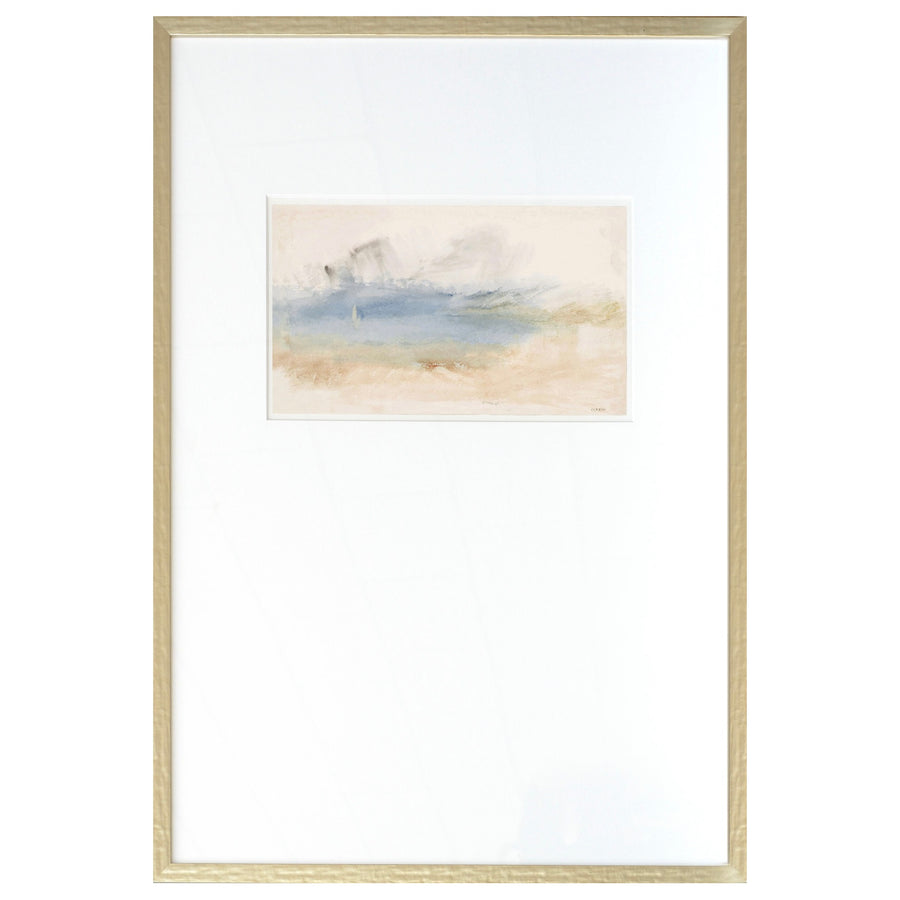"Turner ""Seascape"" Framed Print - Cobalt IV"