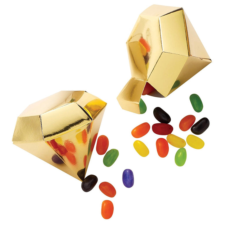 Gold Gem Shaped Gift Boxes