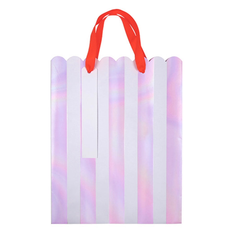 Meri Meri Iridescent Stripe Gift Bags, MM-Meri Meri UK, Putti Fine Furnishings