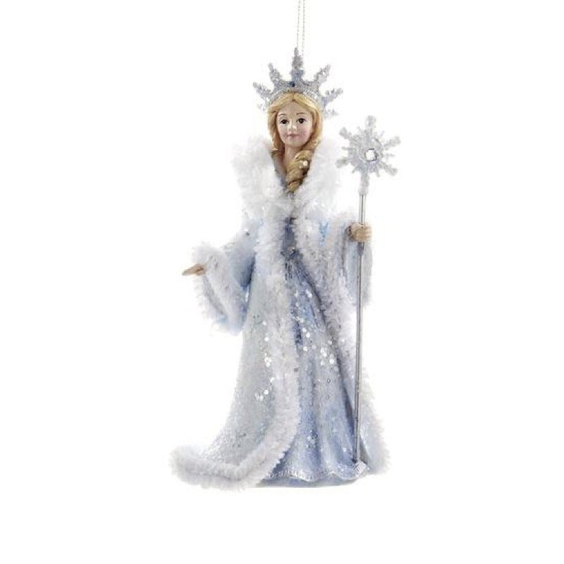 Kurt Adler Frosted Kingdom Snow Queen Ornament | Putti Christmas