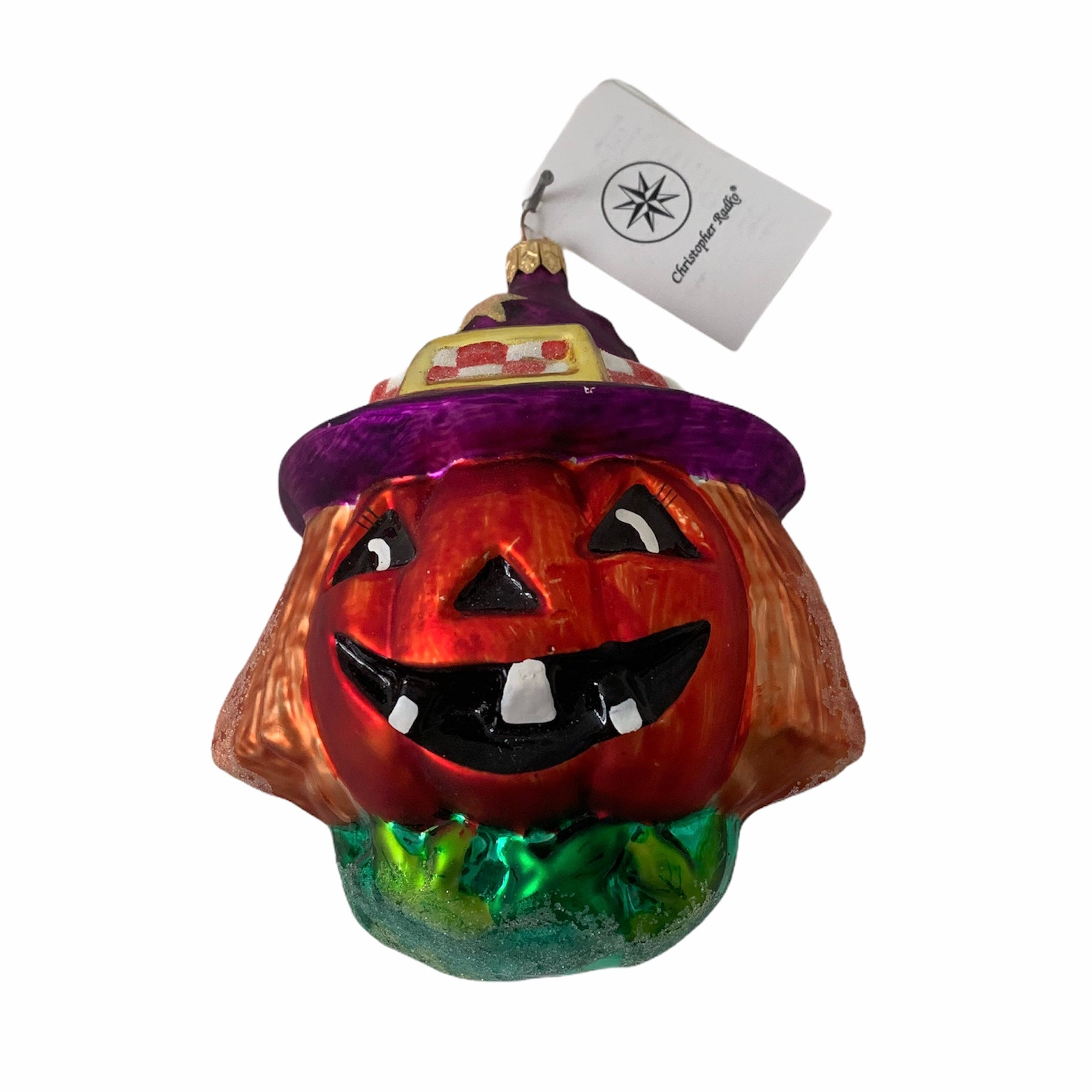 "Christopher Radko ""Jackie o Lantern"" Halloween Glass Ornament"