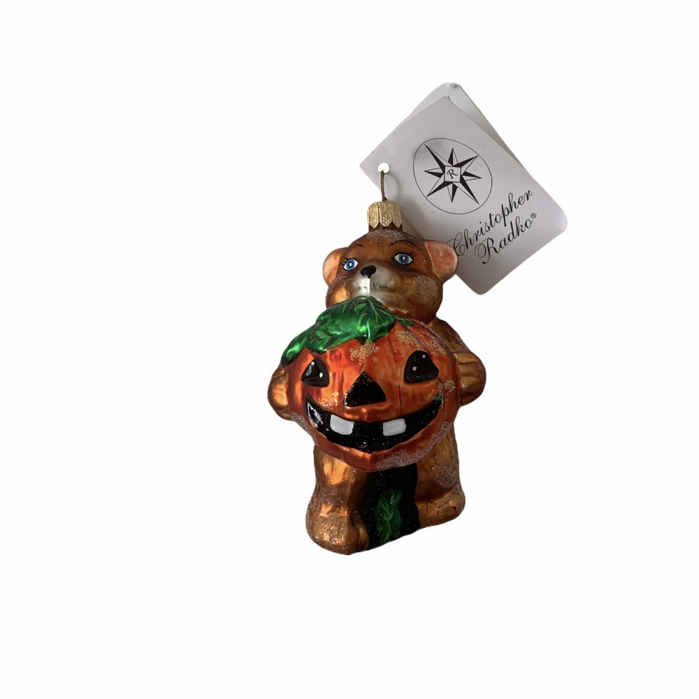 "Christopher Radko ""Pumpkin Prize"" Halloween Glass Ornament"