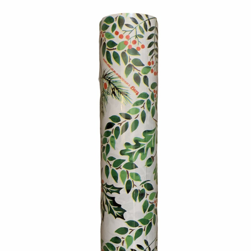 Ogee Greens Wrapping Paper Roll | Putti Christmas Canada