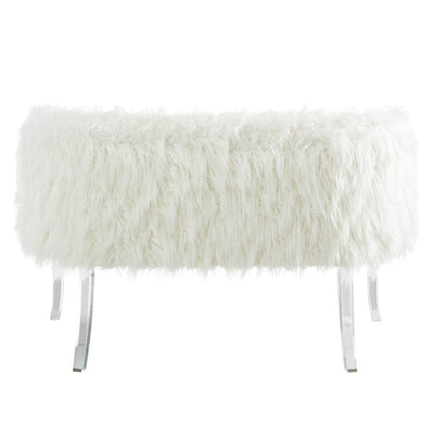 """Celia"" White Fur Sette, WHF-Worldwide Home Furnishings Inc., Putti Fine Furnishings"