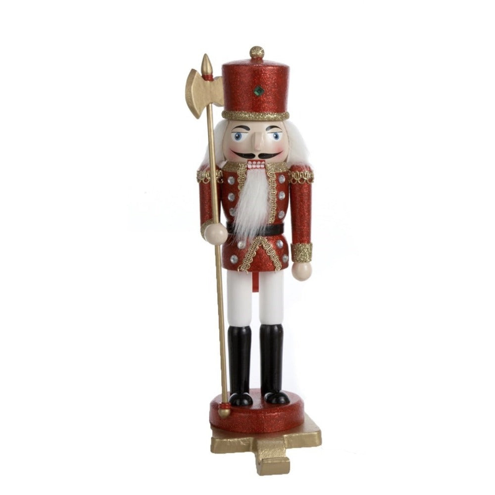 Traditional Red Nutcracker Soldier Holder | Putti Christmas Canada