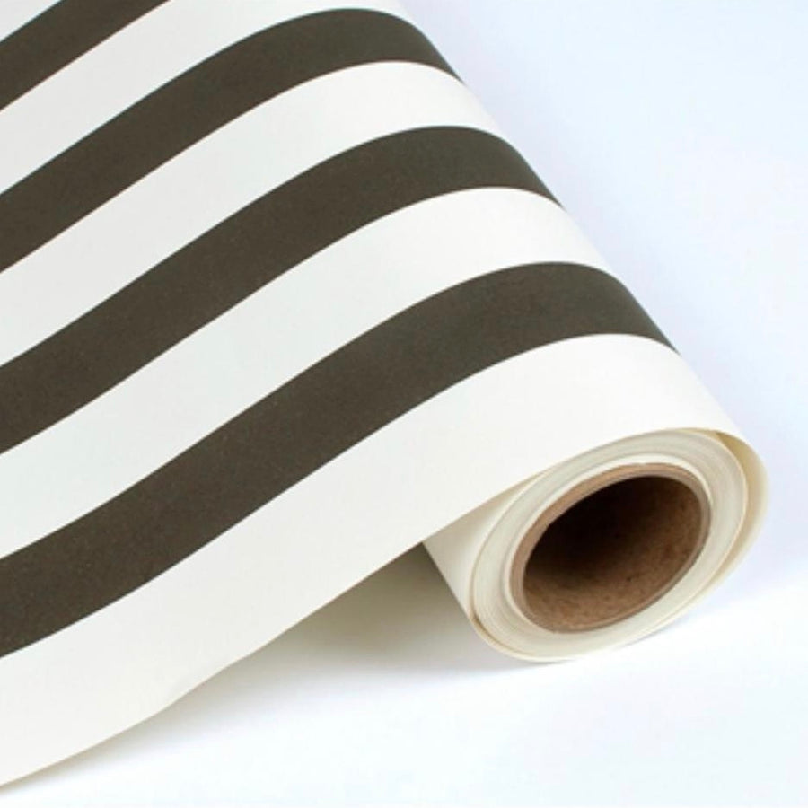 Hester & Cook Classic Stripe Paper Table Runner - Black & White