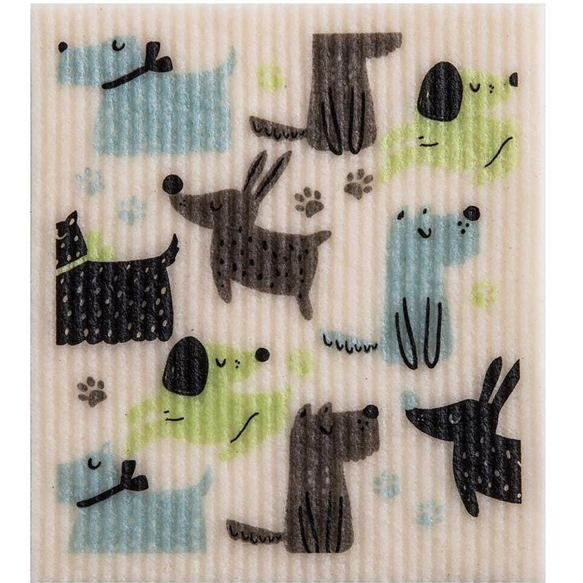 Wet it! Dogs at Play Swedish Cloth | Putti Fine Furnishings Canada