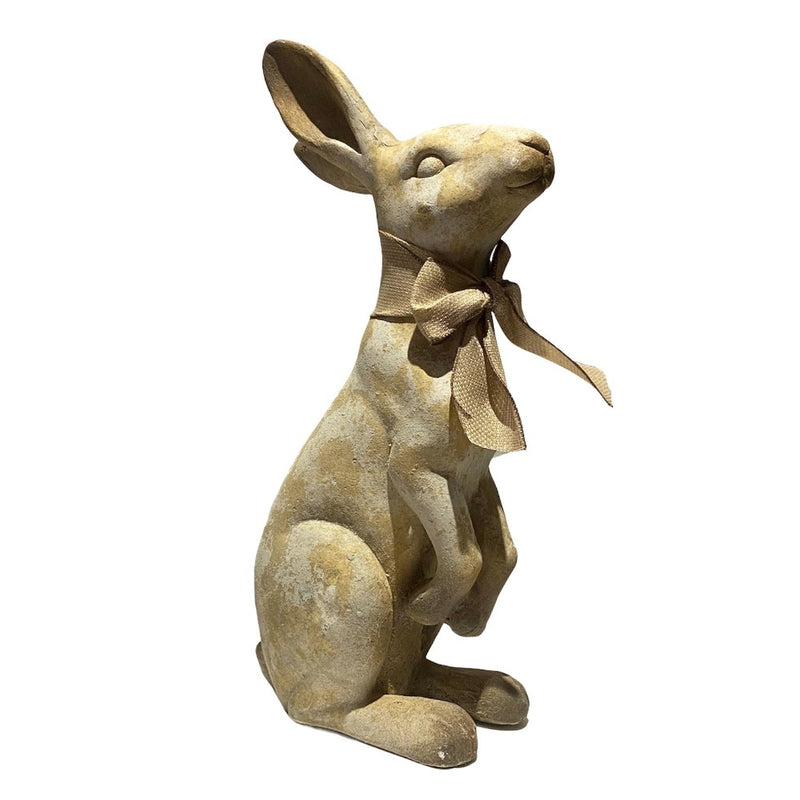 Standing Terracotta Rabbit with Bow