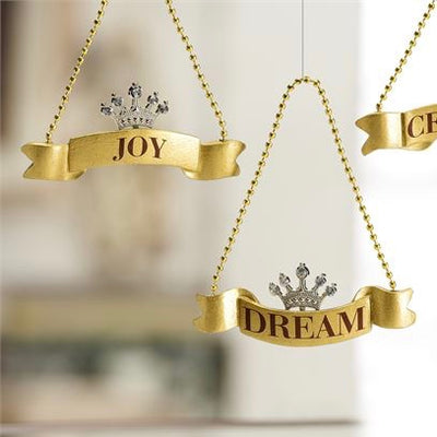 Banner & Crown  Ornament, GC-Gift Craft, Putti Fine Furnishings