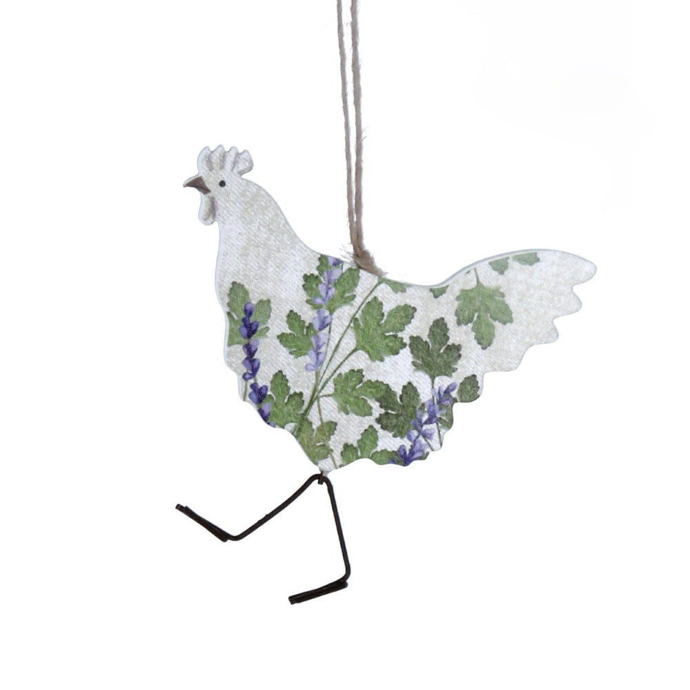 Herbs Chicken Wood Ornament