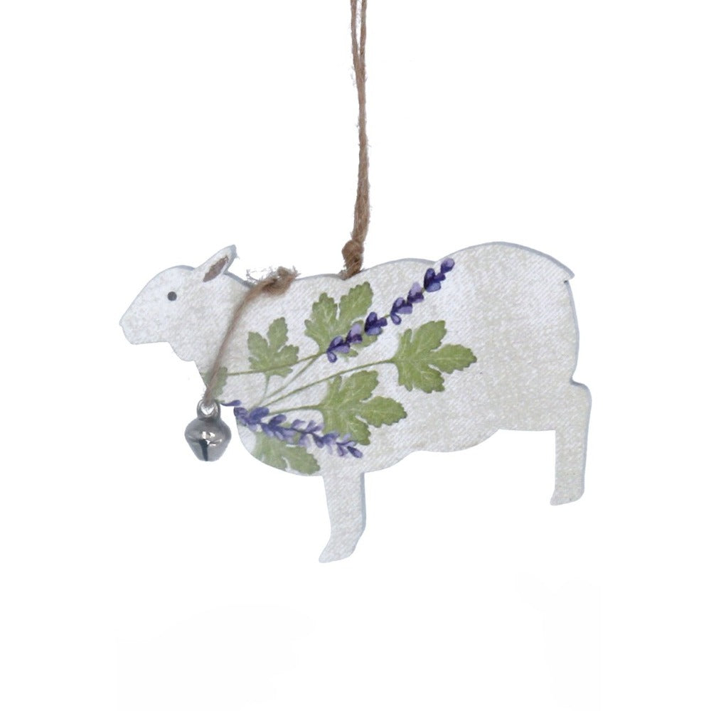 Herbs Lamb Wood Ornament  | Putti Decorations