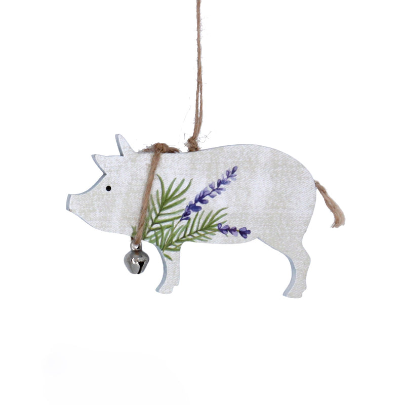 Herbs Cow Wood Ornament