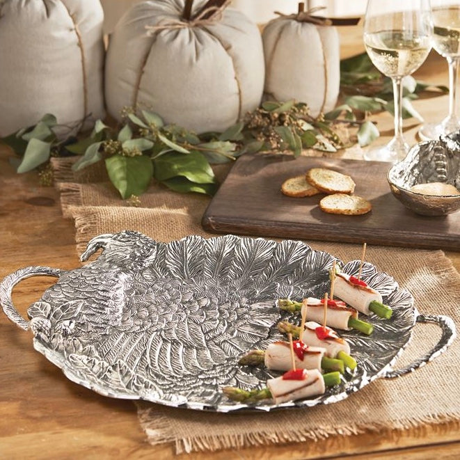 Metal Turkey Serving Tray