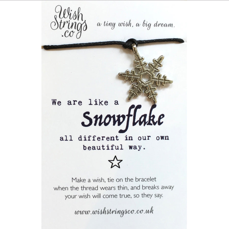 "Wish Strings ""We are all like snowflakes..."""