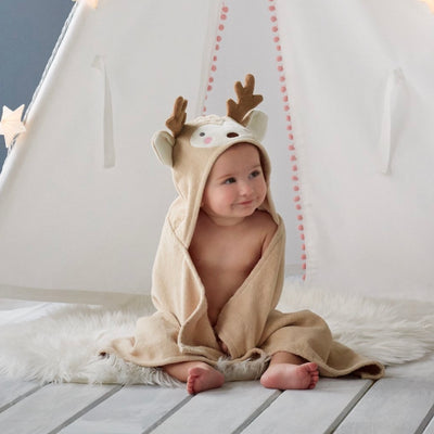 "Elegant Baby ""Deer"" Bath Wrap, EB-Elegant Baby, Putti Fine Furnishings"