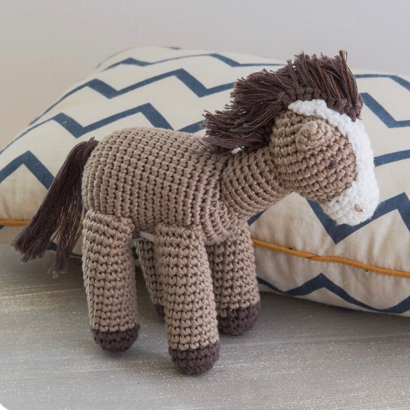 Albetta Crochet Horse Soft Toy, AUK-Albetta UK, Putti Fine Furnishings