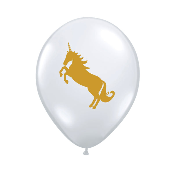 "Diamond Clear Unicorn Balloons 11""-Party Supplies-SE-Surprize Enterprize-Balloon-Putti Fine Furnishings"
