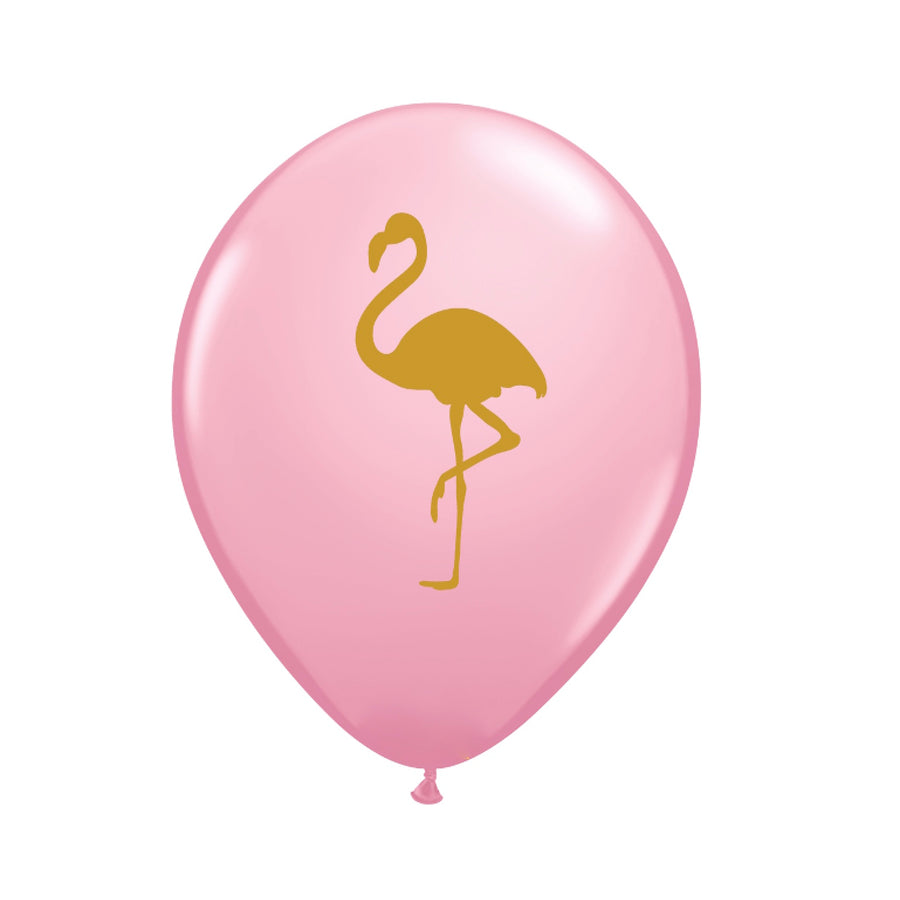 Pink and Gold Flamingo Balloons 11""