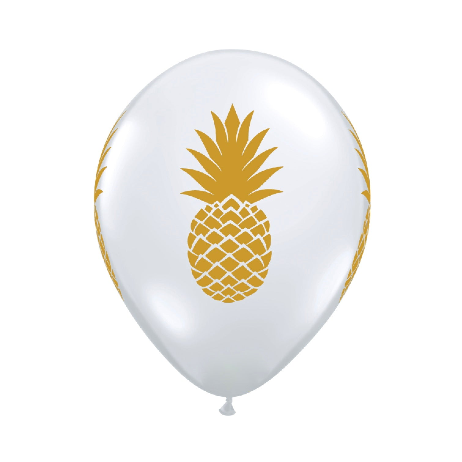 Diamond Clear Gold Pineapple Balloons 11""