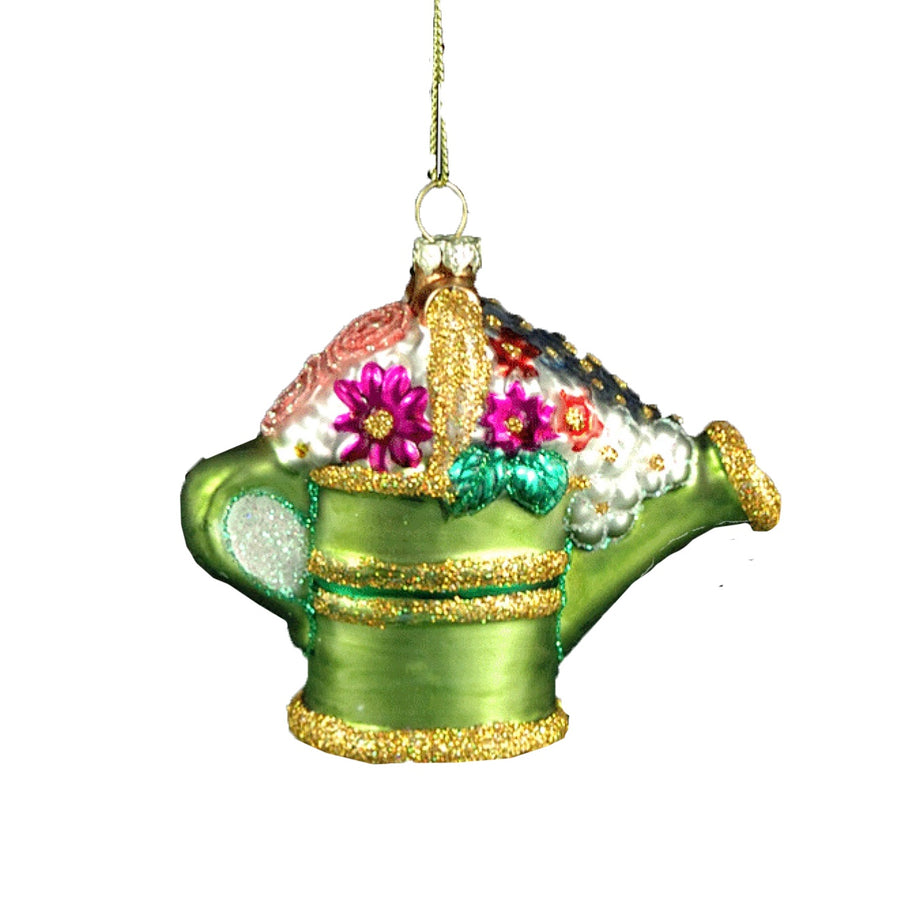 Glass Watering Can Ornament
