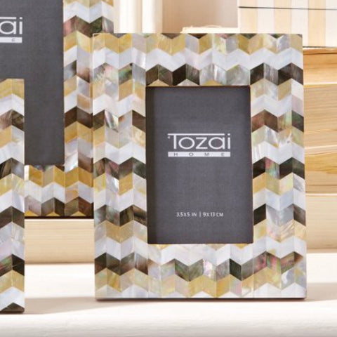 Tozai MOP Chevron Photo Frame
