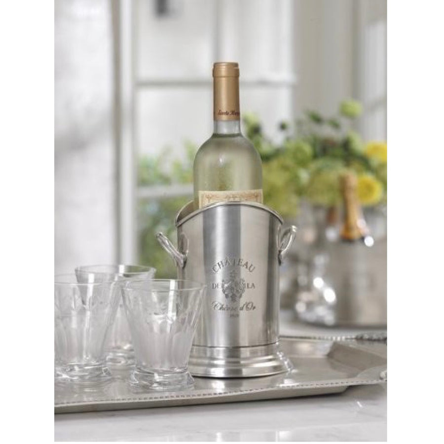 "Zodax ""Palais Royal Grand Cafe"" Pewter-Finish Wine Bottle Holder"