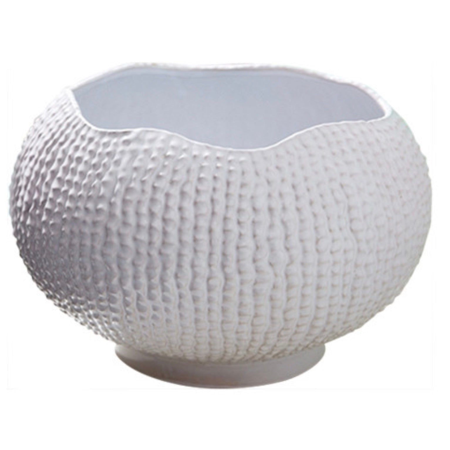 Tozai White Ceramic Sea Urchin Bowl, TH-Tozai Home, Putti Fine Furnishings