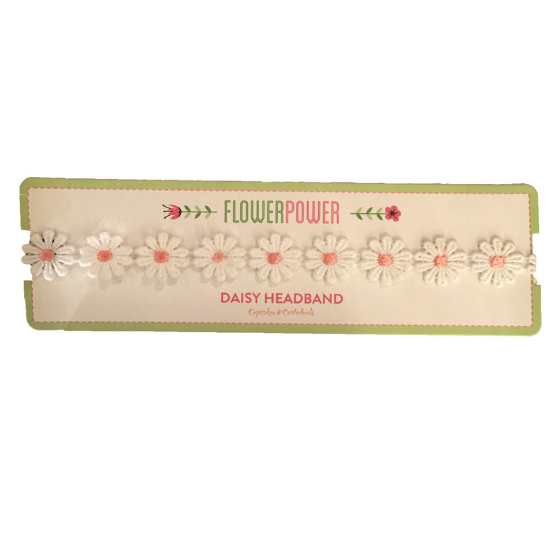 """Flower Power"" Daisy Flower Headband - Pink, C&C-Cupcakes & Cartwheels, Putti Fine Furnishings"