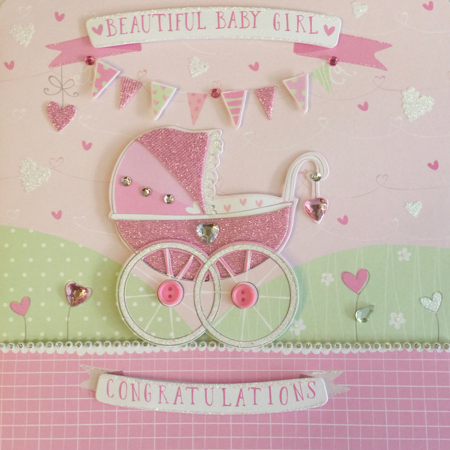 """Baby Girl"" Greeting Card"