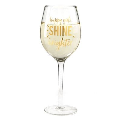"""Glam On"" Wine Glasses, TC-Two's Company, Putti Fine Furnishings"