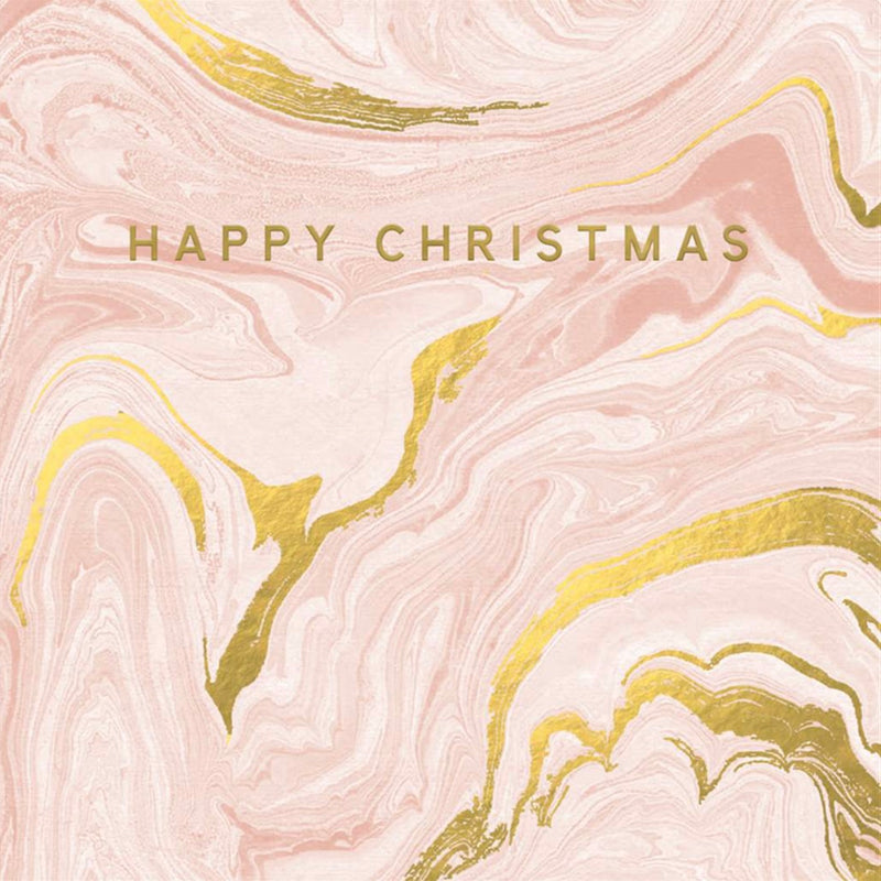 """Happy Christmas"" Marble Box Note Cards"