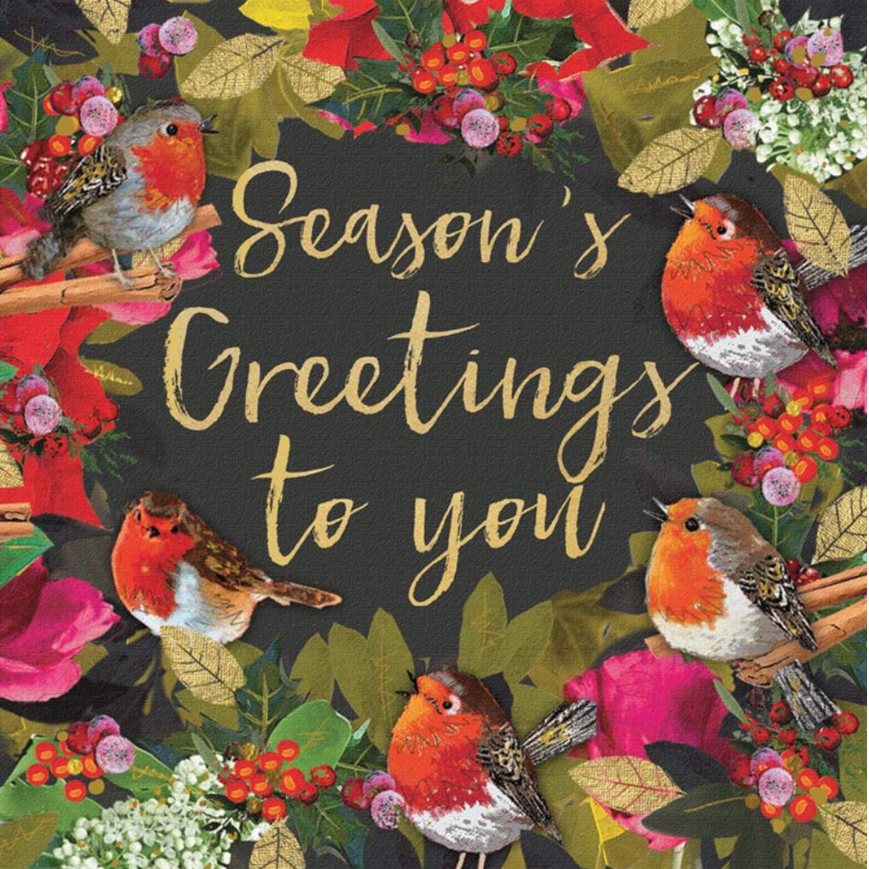 """Season's Greetings to you"" Pack Note Cards"