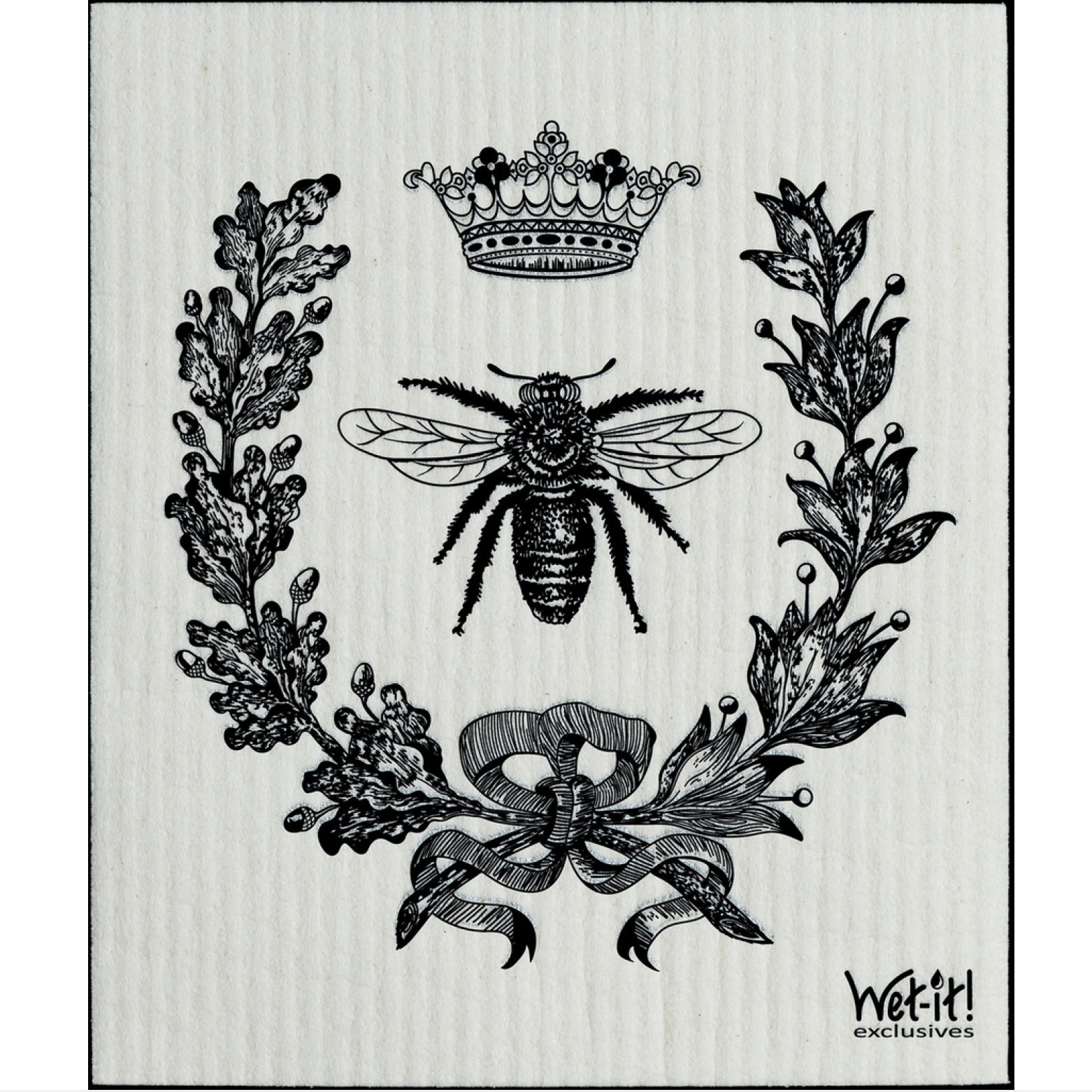 Wet it! French Bee Black Swedish Cloth | Putti Fine Furnishings Canada