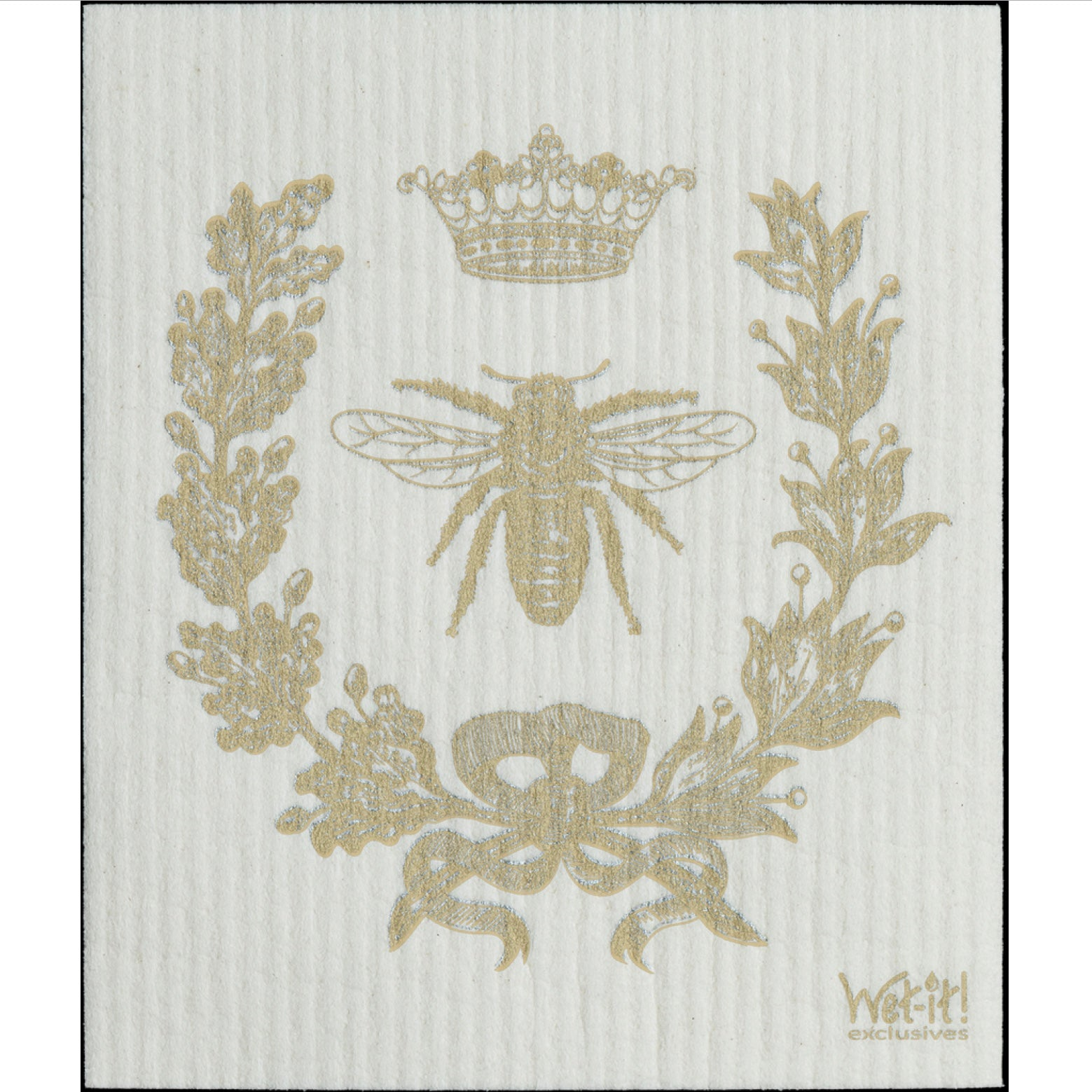 Wet it! French Bee Gold Swedish Cloth | Putti Fine Furnishings Toronto Canada