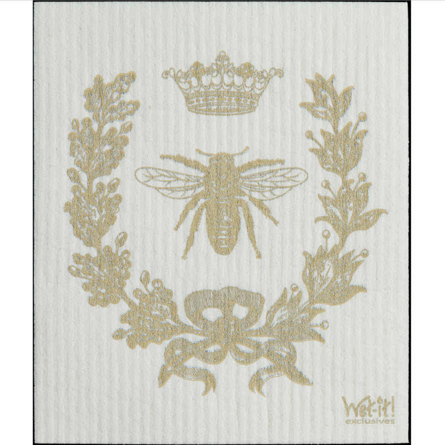 French Bee Gold Swedish Cloth