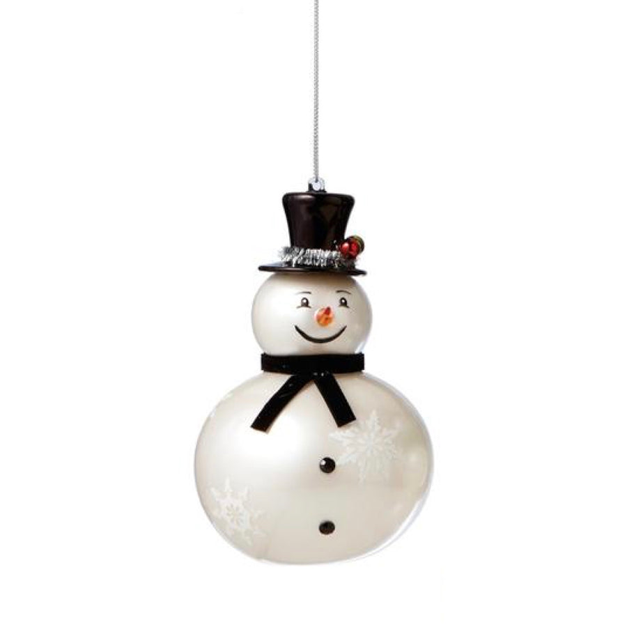 Glass Snowman Ornament