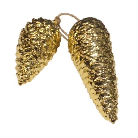 "Gold Double ""Pinecone"" Ornament"