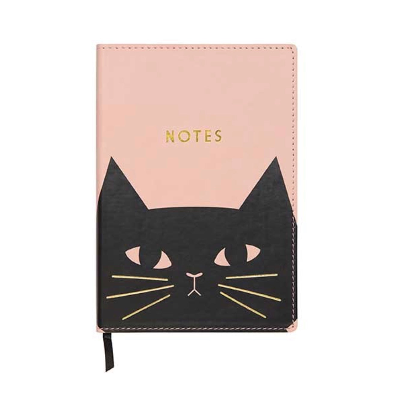 """Felix"" Black Cat Leatherette Journal, CRG-CR Gibson, Putti Fine Furnishings"