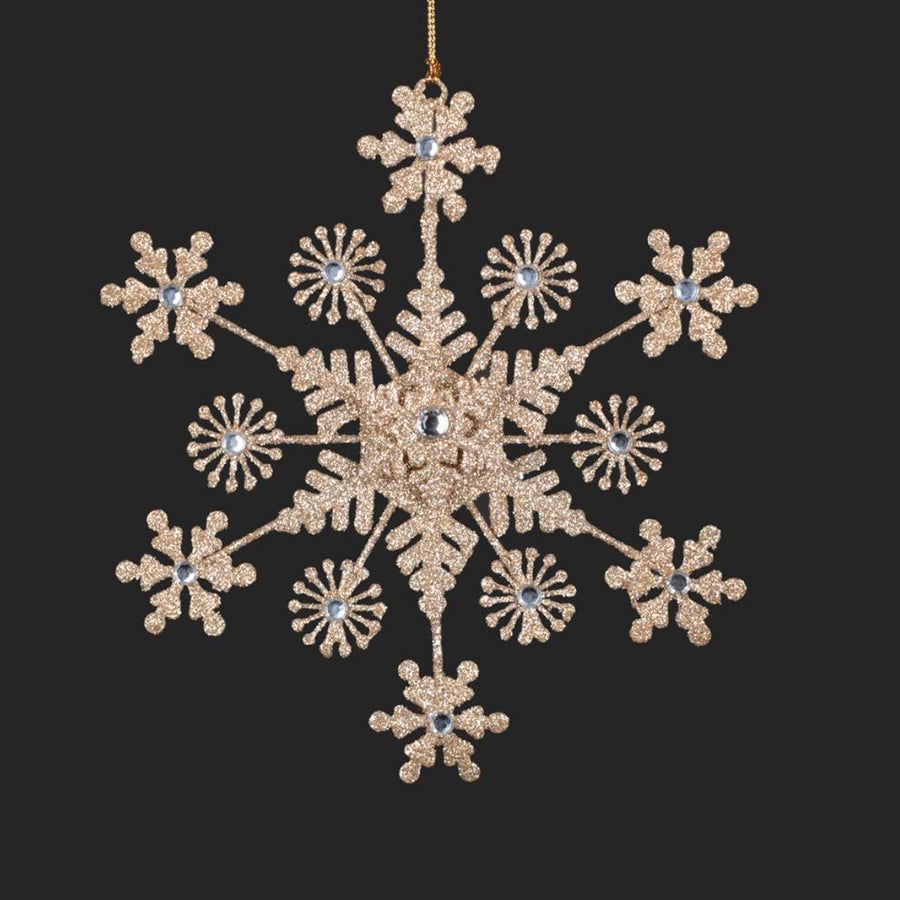 Gold Metal Snowflake Ornament