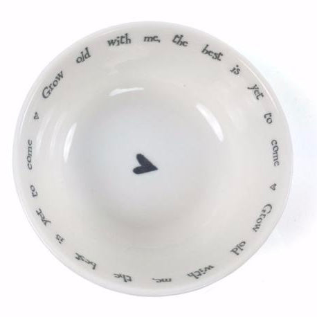"East of India ""Grow old With Me ..."" Bowl, TC-Two's Company, Putti Fine Furnishings"