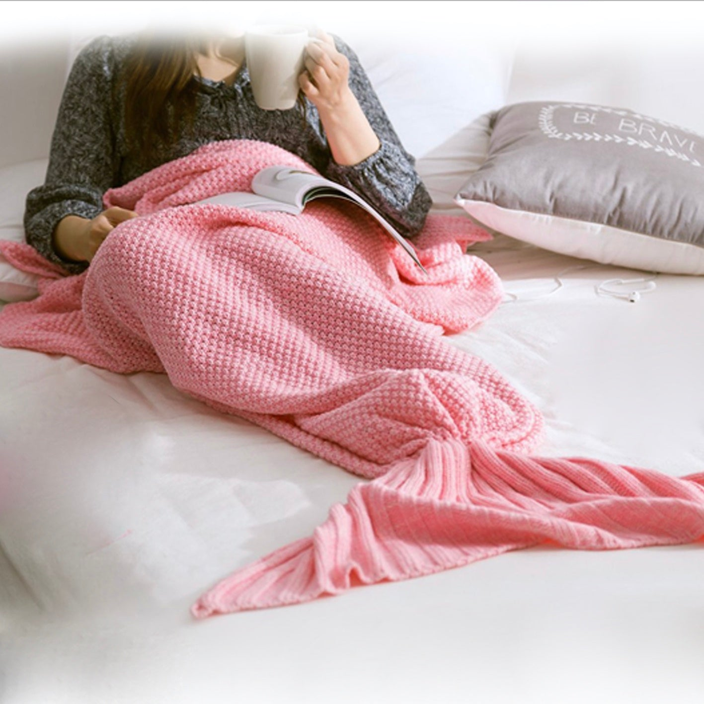 Mermaid Blanket Youth - Pink