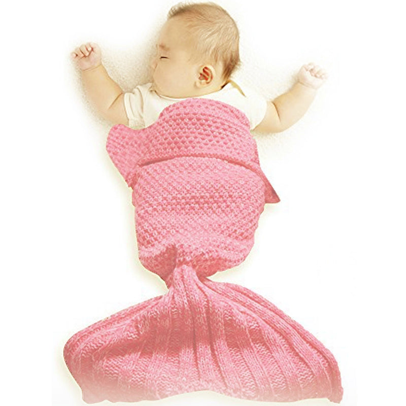 Mermaid Blanket Baby - Coral Pink, OCI-Oceanic Inc, Putti Fine Furnishings