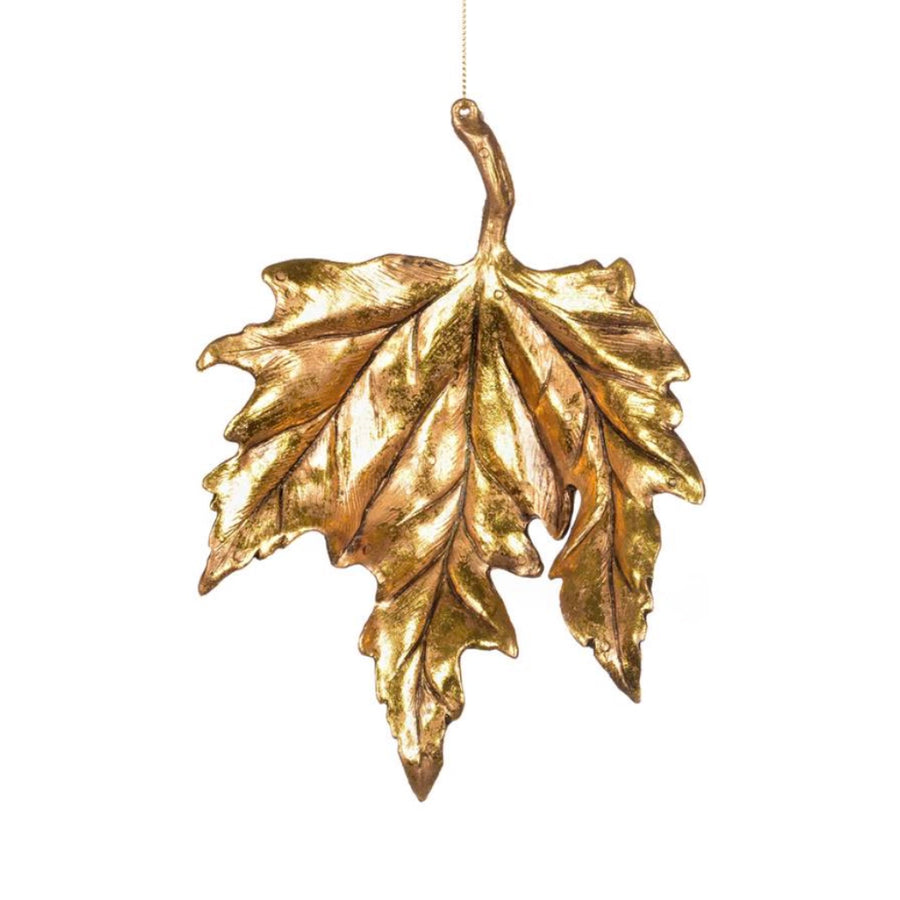 Antique Gold Maple Leaf Ornament
