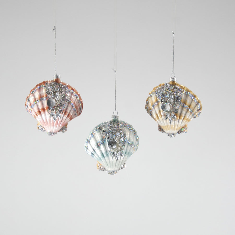 Jewelled Scallop Shell Ornament